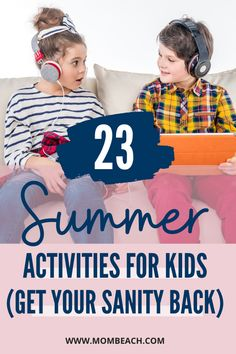 Check out these 23 engaging Summer activities for your kids so you can get your sanity back! There are games, crafts, and more types of activities to try with your child. #summeractivities  #summer #summerschedule #kids Summer Activities For Kids, Activities To Do, Games For Kids, Fun Outdoor Games, Outdoor Play, Fun Arts And Crafts, Easy Crafts For Kids, Summer Ideas, Summer Time