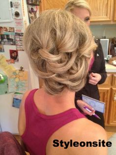 side curled updo, prom, special event, wedding hair, bridesmaid, bride