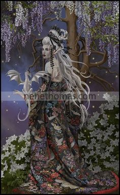 """Myerasalome (17 """" x 28 """" © 2015) Myerasalome is a signed and numbered print, limited edition of 500 and another image of the Queen of Havoc. Myerasalome may be released as an open edition print in the near future. Orders may take between two and six ..."""