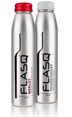FLASQ: Aluminum Wine Bottle