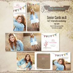 Senior CARD templates for photographers vol.6
