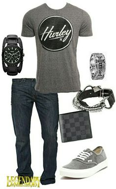 Men's fashion casual jeans outfit… Not all the accessories