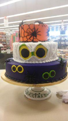 Halloween three tiered cake