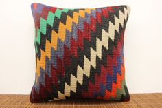 Decorative Kilim pillow cover 16 x 16 Chevron by kilimwarehouse, $47.00