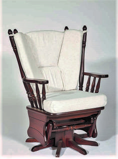 Amish Made Swivel Glider Rocker Form Peaceful Valley Furniture #handcrafted