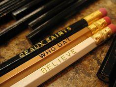 New Orleans Saints Pencil Set $6.95