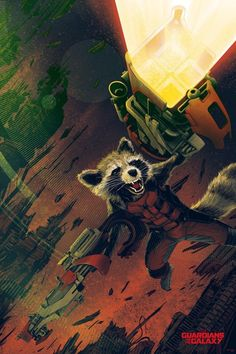 @Kevin Tong New Rocket Raccoon poster for #GuardiansOfTheGalaxy!