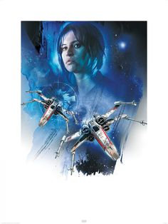 NEW Rogue One Official Posters HD - A Star Wars Story _ Jyn Erso (Felicity Jones) Rebel X-Wing HD Hi Res
