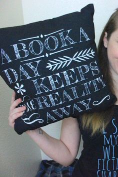 A book a day keeps the reality away... oh, so true. Don't mind us, we'll just be stuffing our face into this book, and then into this pillow when our favorite character dies. *cries* Find more fandom designs over at http://Redbubble.com!