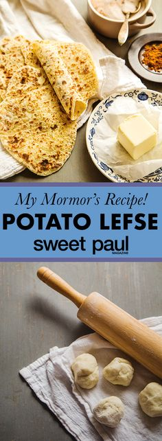 Lefse are sweet Norwegian potato griddlecakes. One of our favorite holiday dishes to eat was Mormor's least favorite dish to make—but she made it for us anyway!
