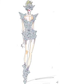 Giorgio Armani for Lady Gaga (Costume for Bad Romance) ahhh!!!! Saw this at the concert!!!! Gorgeous!!!!!