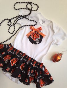 Bengals Skirted Onesie Dress Bengals Baby Dress by SweetTootsy, $30.00