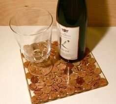 Cork trivet made with epoxy resin
