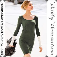 """Victoria's Secret Olive Soft Ribbed Dress Tunic Victoria's Secret Olive Soft Ribbed Dress Tunic   Size: Medium  Measurements taken in inches:  Length: 35"""" Bust: 30"""" Waist: 31"""" Hips: 35""""  Condition: Like new   Bundle discounts available  No pp or trades Victoria's Secret Dresses"""