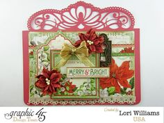 Quick and Simple G45 Tags for the Holidays - Created by Lori Williams of Pinkcloud Scrappers #loriwilliams #graphic45 #g45 #christmastag #tag #Christmas #pinkcloudscrappers
