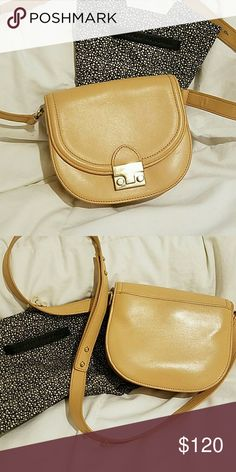 Loeffler Randall leather crossbody Loefler Randall crossbody in beige color. Gently used. Comes with dust bag Loeffler Randall Bags Crossbody Bags