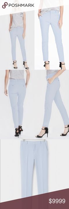 Avery-fit Crepe Pant NWT! Light/baby blue in color. Please read last photo for all details. Photos courtesy of bananarepublic.com. Actual photos coming soon. Banana Republic Pants Ankle & Cropped