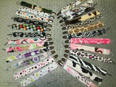 Minky Soother Clips or Pacifier Clips- Ships in 1 Day on Etsy, $5.54