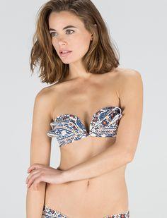Bandeau ruffles bikini top | women'secret