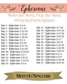 Ephesians scripture writing