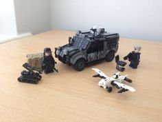 https://flic.kr/p/xXNMmV | Modern Warfare | Just some random mix of modern warfare models I've built a while back, thinking of turning the Raptor back into the version with rear open trailer so it looks more like a Technical..but not for a while.