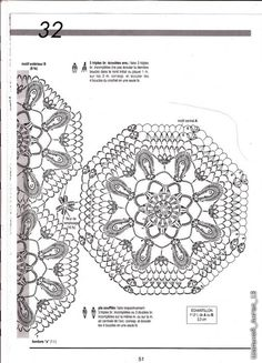 Crochet for your home: mor patterns crochet for tablecloths, rugs curtains, bed cover ~ Craft , handmade blog