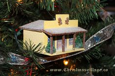 Glitter House  Store from ChristmasVillage.co Christmas Crafts, Christmas Ornaments, Glitter Houses, Card Stock, Store, Holiday Decor, Home Decor, Decoration Home, Room Decor