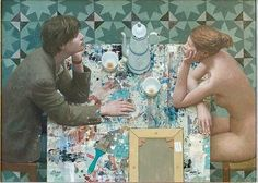 """""""Young Artist With Muse"""" by Kenne Gregoire, , Acrylic on Panel"""