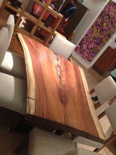 Mesa de madera una sola pieza