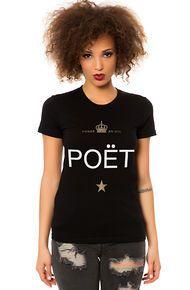 Dead Legacy The Poet Tee in Black