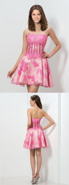 vintage lace appliques homecoming dress