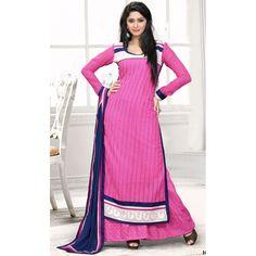 Eid Special Designer Lavishing Pink Embroidered Palazzo Suit-1005(IB-753)Karishma