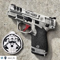 """#Repost @ssvi_llc ・・・ @mattdogg79's Imperial (mini) blaster, slide work by @dpcustomworks, Cerakote by @blowndeadline, laser engraving by @leoarmory,…"""