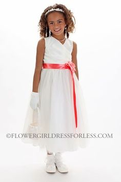 bc1d2fc7bf Flower Girl Dress Style KK 6001 TULLE - BUILD YOUR OWN DRESS! Choice of 139  Sash and 51 Flowers