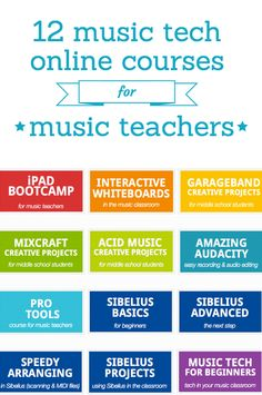 """Midnight Music online courses for music teachers.  Limited places available for live courses.   All courses also available as access-anytime """"Replay Passes"""" (access videos, session notes and other materials from a past course)  http://www.midnightmusic.com.au/online-after-hours-music-technology-courses/"""
