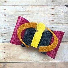 Julie Hill added a photo of their purchase Making Hair Bows, Diy Hair Bows, Bow Making, Disney Bows, Disney Hair, Diy Headband, Headbands, Bow Template, Glitter Canvas