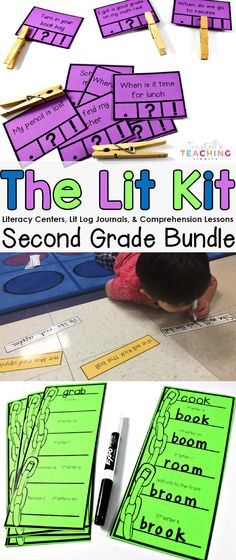 """Literacy centers for the entire year! The Lit Kit has rotation ideas, workstations, literacy strategies, literacy journals, comprehension posters & activities, and ELA printables. These guided reading centers are perfect for Kindergarten, 1st grade, and 2nd grade. To learn more about """"The Lit Kit A Comprehensive Resource"""", visit at www.tunstallsteachingtidbits.com 2nd Grade Centers, 2nd Grade Ela, Teaching Second Grade, 2nd Grade Classroom, 2nd Grade Reading, Future Classroom, Classroom Decor, Literacy Strategies, Literacy Stations"""
