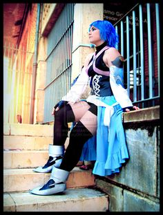 I think this is my favouritte aqua cosplay its just so realistic Kingdom Hearts Cosplay, Kingdom Hearts Characters, Awesome Cosplay, Best Cosplay, Vanitas Kingdom Hearts, Just Amazing, Cosplay Ideas, Photo Manipulation, Cosplay Girls