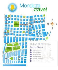 Mapa de Ciudad de Mendoza Barrio Cívico