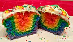 This is pretty easy, perfect for a group of six girls to make. How to Make Rainbow Cupcakes