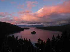Storm clearing over Emerald Bay