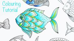 Colouring Tutorial - how to color a #LostOcean fish with author Johanna Basford