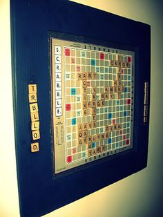 magnetic scrabble board, made it for ryan!