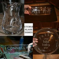 Etch glassware for gifts from Diary of a Crafty Lady