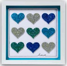 We heart crafts :) Check out this lovely project! #paper #glitter