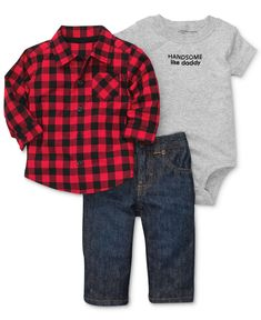 Carter's Baby Set, Baby Boys 3-Piece Bodysuit, Shirt and Pants - Kids Baby Boy (0-24 months) - Macy's