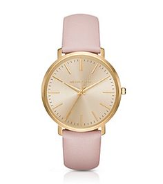 Find the Jaryn Gold-Tone Leather-Band Watch by Michael Kors at Michael Kors.