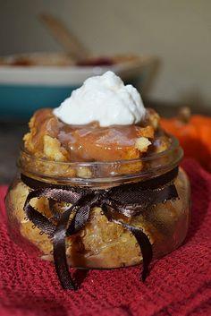 Pumpkin caramel bread pudding