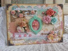 CCCC* The Garden Tea Party Handmade Mini Album Natalie #Handmade