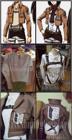 Scouting Jacket and Eren and Mikasa's T-shirt by KissShiningTutorials on deviantART